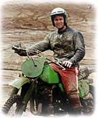 photo of Rick on his green machine
